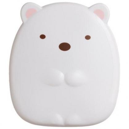 小禮堂 角落生物 造型折疊鏡梳組 隨身鏡 隨身梳 立鏡 扁梳 (白 北極熊)