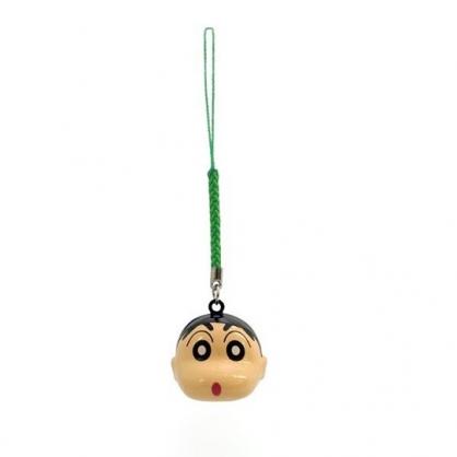小禮堂 蠟筆小新 造型金屬鈴鐺吊飾 鈴鐺鑰匙圈 金屬吊飾 (米 大臉)
