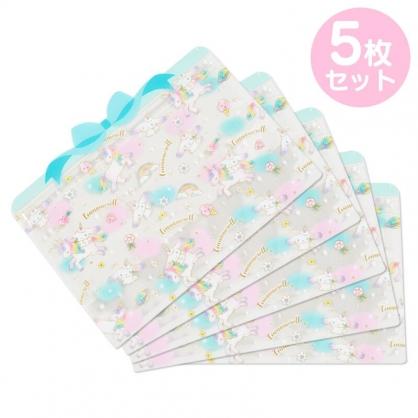 小禮堂 大耳狗 造型透明夾鏈袋組 化妝品袋 口罩袋 飾品袋 分裝袋 (5入 藍 蝴蝶結)