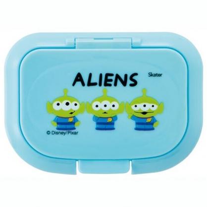 小禮堂 迪士尼 三眼怪 方形塑膠濕紙巾蓋 濕巾盒蓋 濕巾蓋 抗菌Ag+ (藍 三隻)