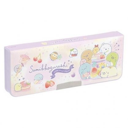 小禮堂 角落生物 日製 雙開式鉛筆盒 多功能鉛筆盒 塑膠筆盒 鉛筆袋 (紫 水果)