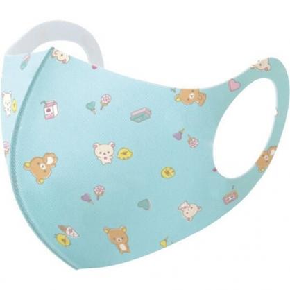 小禮堂 懶懶熊 兒童布口罩組 棉口罩 立體口罩 防塵口罩 可水洗 (3入 綠 物品)
