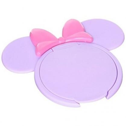 小禮堂 迪士尼 米妮 日製 造型塑膠濕紙巾蓋 濕巾盒蓋 濕巾蓋 (紫 大臉)