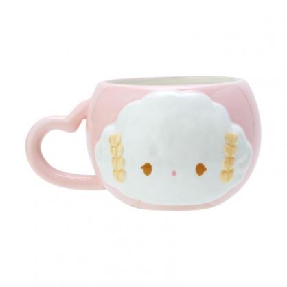 小禮堂 小麥粉 造型陶瓷馬克杯 微波馬克杯 胖胖杯 咖啡杯 牛奶杯 190ml (粉 午茶派對)
