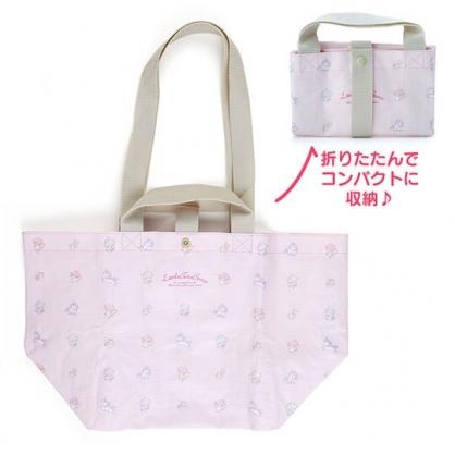 小禮堂 美樂蒂 船形扣式防水購物袋 環保購物袋 防水側背袋 手提袋 (粉 滿版)