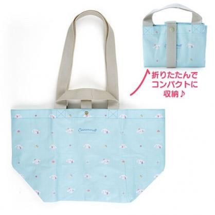 小禮堂 大耳狗 船形扣式防水購物袋 環保購物袋 防水側背袋 手提袋 (藍 滿版)