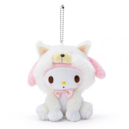 小禮堂 美樂蒂 絨毛吊飾 柴犬吊飾 玩偶吊飾 玩偶鑰匙圈 (米 調皮柴犬)