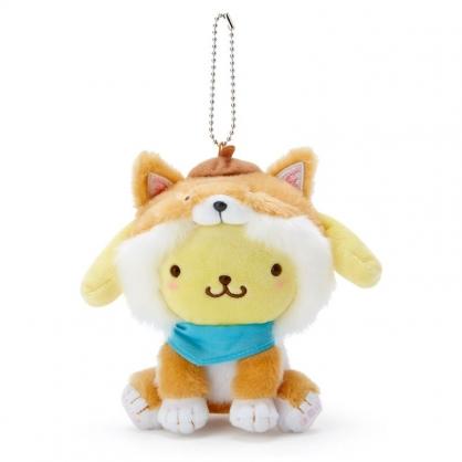 小禮堂 布丁狗 絨毛吊飾 柴犬吊飾 玩偶吊飾 玩偶鑰匙圈 (淺棕 調皮柴犬)