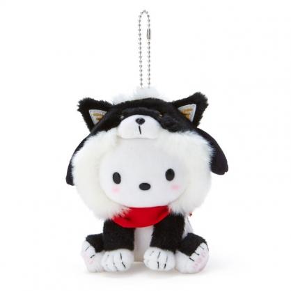 小禮堂 帕恰狗 絨毛吊飾 柴犬吊飾 玩偶吊飾 玩偶鑰匙圈 (黑 調皮柴犬)