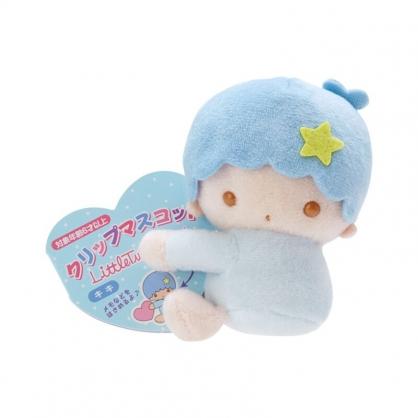小禮堂 雙子星KIKI 迷你絨毛玩偶 玩偶萬用夾 夾式玩偶 娃娃夾子 (藍 2021角色大賞)