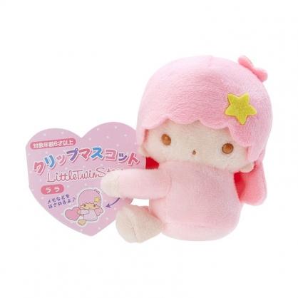 小禮堂 雙子星LALA 迷你絨毛玩偶 玩偶萬用夾 夾式玩偶 娃娃夾子 (粉 2021角色大賞)