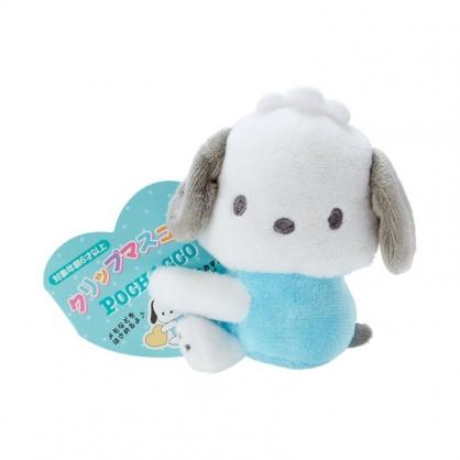 小禮堂 帕恰狗 迷你絨毛玩偶 玩偶萬用夾 夾式玩偶 娃娃夾子 (藍 2021角色大賞)