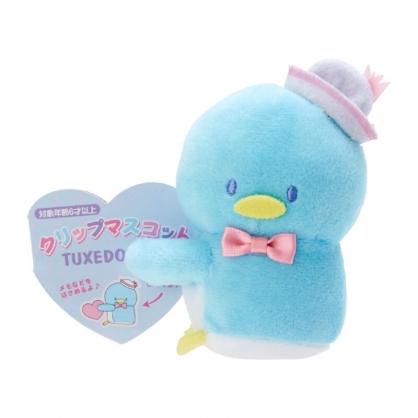 小禮堂 山姆企鵝 迷你絨毛玩偶 玩偶萬用夾 夾式玩偶 娃娃夾子 (藍 2021角色大賞)