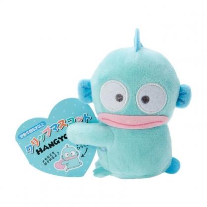 小禮堂 人魚漢頓 迷你絨毛玩偶 玩偶萬用夾 夾式玩偶 娃娃夾子 (藍 2021角色大賞)