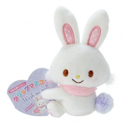 小禮堂 許願兔 迷你絨毛玩偶 玩偶萬用夾 夾式玩偶 娃娃夾子 (白 2021角色大賞)