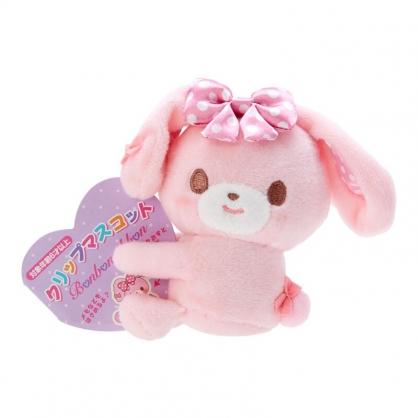 小禮堂 蹦蹦兔 迷你絨毛玩偶 玩偶萬用夾 夾式玩偶 娃娃夾子 (粉 2021角色大賞)