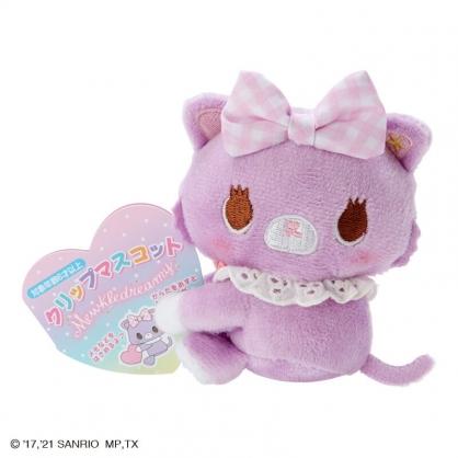 小禮堂 甜夢貓 迷你絨毛玩偶 玩偶萬用夾 夾式玩偶 娃娃夾子 (紫 2021角色大賞)