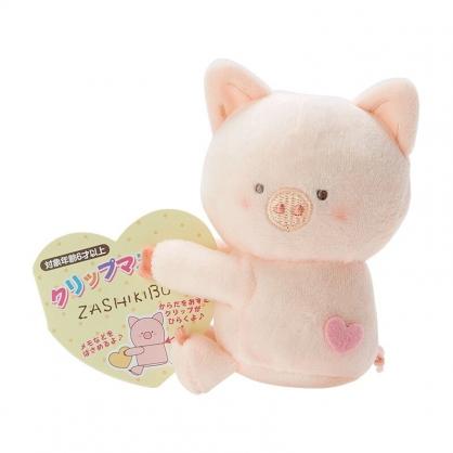 小禮堂 胖胖豬 迷你絨毛玩偶 玩偶萬用夾 夾式玩偶 娃娃夾子 (米 2021角色大賞)
