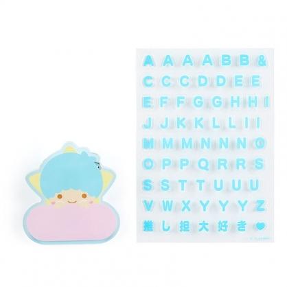 小禮堂 雙子星KIKI 造型壓克力名牌徽章 附貼紙 名牌胸章 姓名牌 胸牌 (藍 2021角色大賞)
