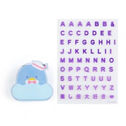 小禮堂 山姆企鵝 造型壓克力名牌徽章 附貼紙 名牌胸章 姓名牌 胸牌 (藍 2021角色大賞)