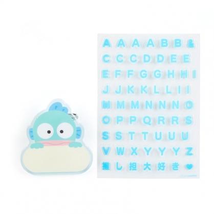 小禮堂 人魚漢頓 造型壓克力名牌徽章 附貼紙 名牌胸章 姓名牌 胸牌 (藍 2021角色大賞)