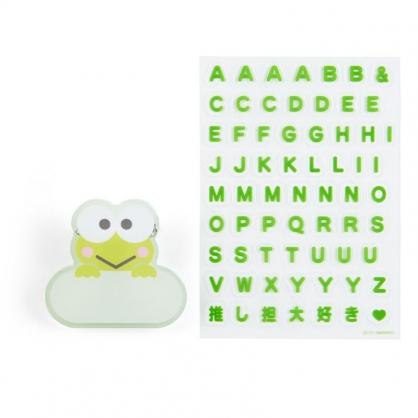 小禮堂 大眼蛙 造型壓克力名牌徽章 附貼紙 名牌胸章 姓名牌 胸牌 (綠 2021角色大賞)