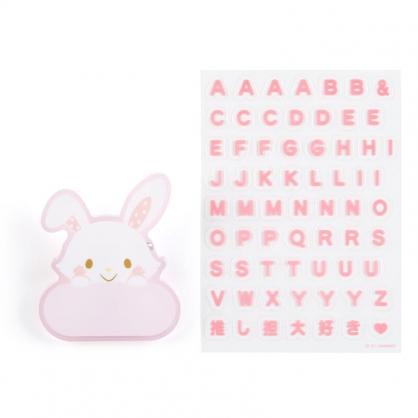 小禮堂 許願兔 造型壓克力名牌徽章 附貼紙 名牌胸章 姓名牌 胸牌 (粉 2021角色大賞)