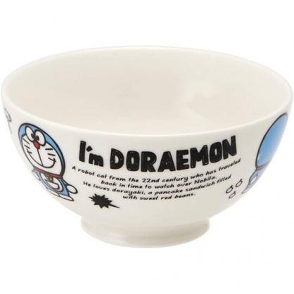 小禮堂 哆啦A夢 陶瓷碗 微波碗 兒童碗 飯碗 湯碗 250ml (白 道具)