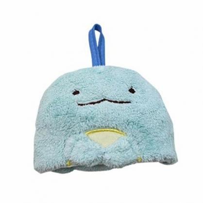 小禮堂 角落生物 可掛式造型擦手巾 吸水毛巾 擦手毛巾 方巾 30x30cm (藍 恐龍)