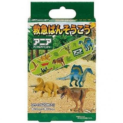 小禮堂 恐龍 日製 盒裝OK繃 貼布 繃帶 20枚入 (綠 叢林)