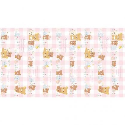 小禮堂 懶懶熊 日製 雙人野餐墊 沙灘墊 露營墊 防水墊 100x180cm (粉 格紋)