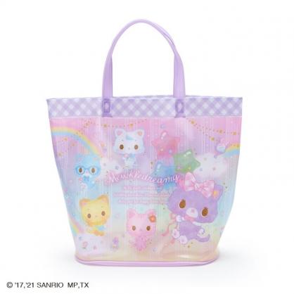 小禮堂 甜夢貓 透明海灘袋 水桶提袋 游泳袋 泳具袋 防水袋 (紫 2021炎夏企劃)