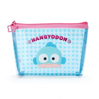 小禮堂 人魚漢頓 船形防水化妝包 格紋化妝包 透明化妝包 盥洗包 (藍 大臉)