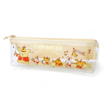 小禮堂 布丁狗 日製 旅行牙刷組 附牙刷袋 兒童牙刷 牙刷蓋 盥洗組 (黃 生日樂隊)