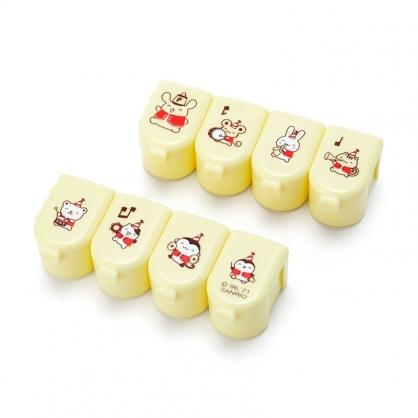 小禮堂 布丁狗 日製 塑膠連接八格藥盒 隨身藥盒 藥物盒 分裝盒 小物盒 (黃 生日樂隊)