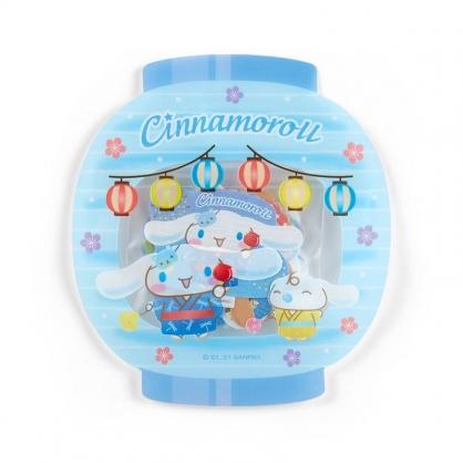 小禮堂 大耳狗 日製 燈籠造型和紙貼紙 和風貼紙 手帳貼紙 貼紙包 (藍)