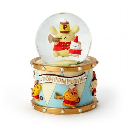 小禮堂 布丁狗 迷你造型玻璃雪球 聖誕雪球 雪花球 水晶球 (黃 生日樂隊)