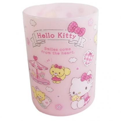 小禮堂 Hello Kitty 圓形塑膠筆筒 圓筆筒 文具筒 刷具筒 收納筒 (粉 遊樂園)