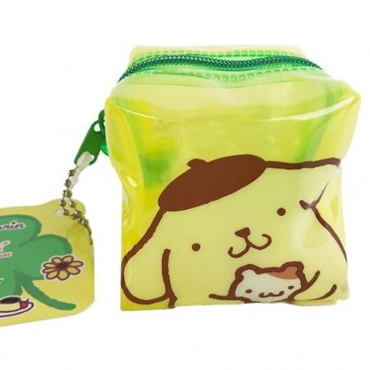 小禮堂 布丁狗 方形防水零錢包 果凍零錢包 掛飾零錢包 耳機包 銅板小物 (黃 大臉)