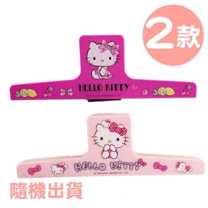 小禮堂 Hello Kitty 塑膠磁鐵夾 一字夾 塑膠夾 文件夾 菜單夾 文具夾 (2款隨機)