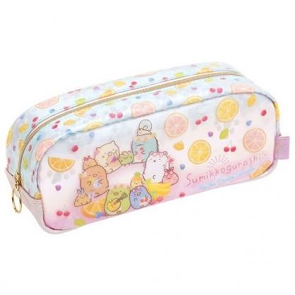 小禮堂 角落生物 防水拉鍊筆袋 防水筆袋 鉛筆袋 鉛筆盒 (粉 水果)