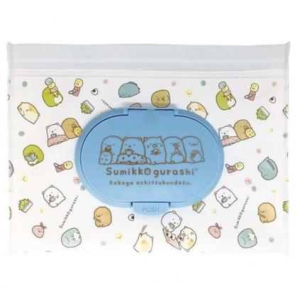 小禮堂 角落生物 防水濕紙巾包夾鏈袋 抽取式收納袋 濕巾包 面紙包 (M 白)