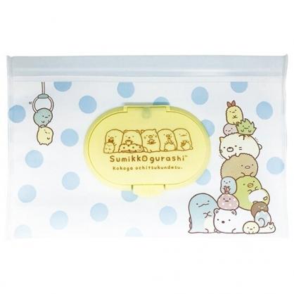 小禮堂 角落生物 防水濕紙巾包夾鏈袋 抽取式收納袋 濕巾包 面紙包 (L 白)