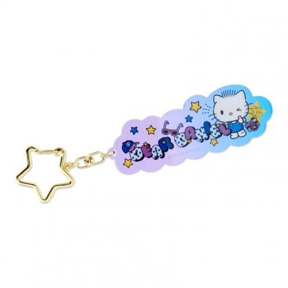 小禮堂 Daniel 造型壓克力鑰匙圈 透明鑰匙圈 壓克力吊飾 掛飾 (紫 星星扣環)
