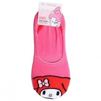 小禮堂 美樂蒂 成人短襪 隱形襪 及踝襪 船形襪 棉襪 腳長23-25cm (桃 大臉)