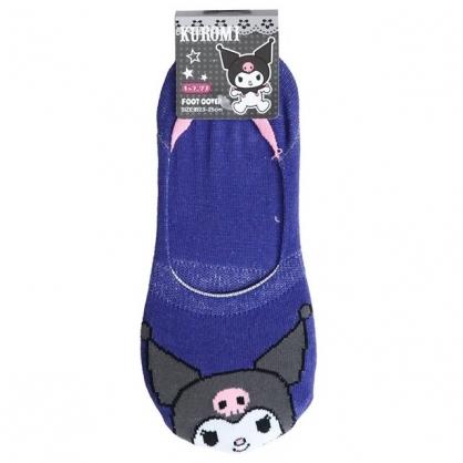 小禮堂 酷洛米 成人短襪 隱形襪 及踝襪 船形襪 棉襪 腳長23-25cm (深藍 大臉)