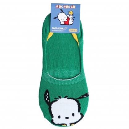 小禮堂 帕恰狗 成人短襪 隱形襪 及踝襪 船形襪 棉襪 腳長23-25cm (綠 大臉)