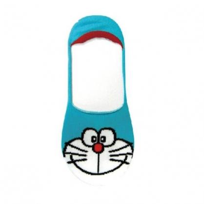 小禮堂 哆啦A夢 成人短襪 隱形襪 及踝襪 船形襪 棉襪 腳長23-25cm (藍 大臉)