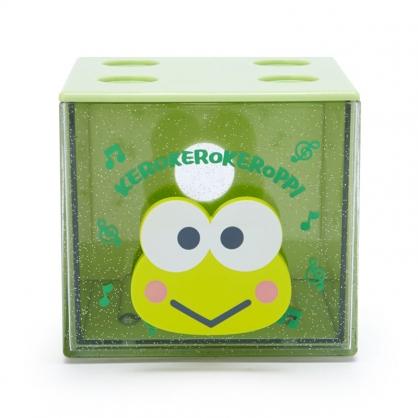 小禮堂 大眼蛙 方形單抽收納盒 透明抽屜盒 堆疊收納盒 積木盒 飾品盒 (綠 果凍文具)