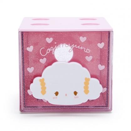 小禮堂 小麥粉 方形單抽收納盒 透明抽屜盒 堆疊收納盒 積木盒 飾品盒 (粉 果凍文具)